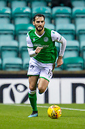 Adam Jackson (#18) of Hibernian FC during the William Hill Scottish Cup fourth round match between Hibernian FC and Dundee United FC at Easter Road Stadium, Edinburgh, Scotland on 28 January 2020.