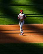 Philadelphia Phillies shortstop Alec Bohm stands in position against the Washington Nationals on September 22, 2020 at Nationals Park.