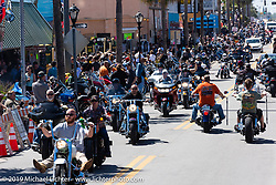 Main Street during Daytona Bike Week. Daytona Beach, FL. USA. Friday March 16, 2018. Photography ©2018 Michael Lichter.