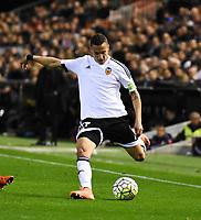 Valencia's Rodrigo  during 2015/16 La Liga match between Valencia and Atletico de Madrid at Mestalla stadium in Madrid, Spain. March 6, 2016. (ALTERPHOTOS/Javier Comos)