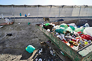 Spanje, El Ejido, 7-11-2019In dit deel van Andalucie worden veel groenten en fruit verbouwd die hun weg vinden via de export naar o.a. Nederland . Het wordt de zee van plastic genoemd omdat de kassen opgebouwd zijn van houten of metalen palen bedekt met zwaar plastic. In de kassen werken voornamelijk migranten uit Afrika, en arbeidsmigranten uit Oost-Europa die een laag loon uitbetaald krijgen, tussen de 30 en 40 euro per 8 urige dag, werkdag, afhankelijk van de werkgever. Er wordt door de tuinders en transportbedrijven goed verdiend maar de boeren vinden dat ze teveel negatieve aandacht krijgen in de media van noord-europa. De migranten zijn zich ervan bewust dat ze van veel de schuld krijgen terwijl ze toch het werk doen wat de Spanjaarden niet willen...Foto: Flip Franssen