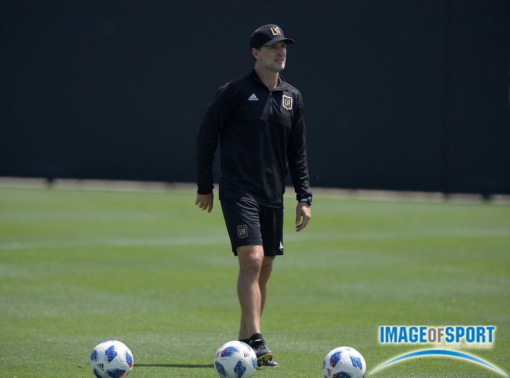 Apr 10, 2018; Los Angeles, CA, USA; LAFC assistant coach Ante Razov at practice at Cal State LA.