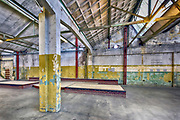 Nederland, Nijmegen, 6-4-2018Voormalige fabriekshal van de Nyma . Nu onderdak voor skaters van Waalhalla .Foto: Flip Franssen