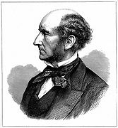 John Stuart Mill (1806-73)  British social reformer and philosopher. Wood engraving published at time of his death.
