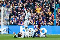 Real Madrid's Sergio Ramos, Cristiano Ronaldo , FC Barcelona's Sergio Busquets during spanish La Liga match between Futbol Club Barcelona and Real Madrid  at Camp Nou Stadium in Barcelona , Spain. Decembe r03, 2016. (ALTERPHOTOS/Rodrigo Jimenez)