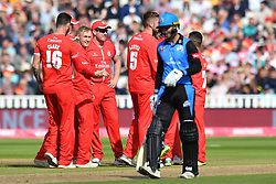 Worcestershire Rapid's Tom Fell is stumped by Lancashire Lightning's Joss Buttler off the bowling of Matthew Parkinson during the Vitality T20 Blast Semi Final match on Finals Day at Edgbaston, Birmingham.