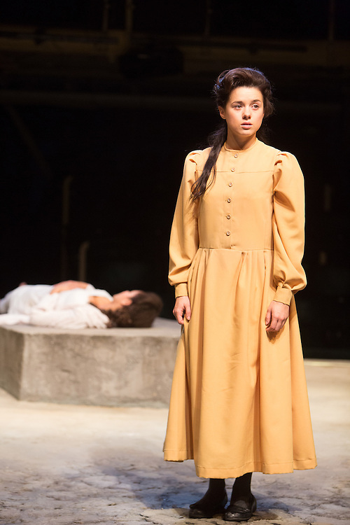 Royal Exchange Theatre production of The Crucible by Arthur Miller, directed by Caroline Steinbeis. Cast: Sarah Amankwah, Paul Brightwell, Christopher Chilton, David Collings, Grace Cordell, Sam Cox, Alastair Gillies, Peter Guinness, Leah Haile, Matti Houghton, Stephen Kennedy, Pepter Lunkuse, Jonjo O'Neill, Mary Jo Randle, Rachel Redford, Roy Sampson, Tim Steed, Marjorie Yates, Ria Zmitrowicz