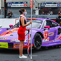 #57, Porsche 911 RSR, Team Project 1, drivers: Jeroen Bleekemolen, Felipe Fraga, Ben Keating, LM GTE Am, at the Le Mans 24H, 2020, 19 September 2020