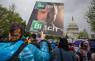Jesse from the TV show Breaking Bad on a sign held by one of the marchers at the March for Science in Washington, D.C.