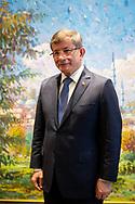Ahmet Davutoglu, former Turkish Prime Minister and former Turkish Foreign Minister at his offices in Levent, Istanbul, Turkey. July 26th 2019.
