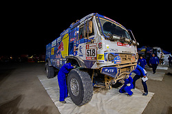 January 11, 2019 - Arequipa, Peru - AREQUIPA, PU - 11.01.2019: DAKAR 2019 - Andrey Karginov (RUS) during the Dakar Rally 2019, on Friday (11), in Arequipa, Peru. (Credit Image: © Duda Bairros/Fotoarena via ZUMA Press)