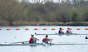 Caversham. Berkshire. UK<br /> bow beth BRYAn and Jo WRATTEN leading the seconf semi final A/B2. during the <br /> 2016 GBRowing U23 Trials at the GBRowing Training base near Reading, Berkshire.<br /> <br /> Tuesday  12/04/2016<br /> <br /> [Mandatory Credit; Peter SPURRIER/Intersport-images]