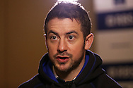 Greig Laidlaw, the Scotland captain looks on during the RBS Six Nations 2017 media launch at the Hurlingham Club, Ranelagh Gardens in London on Wednesday 25th January 2017.<br /> pic by John Patrick Fletcher, Andrew Orchard sports photography.