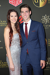 Players from the Westfield W-League and Hyundai A-League arrive on the red carpet for the 2018 Dolan Warren Awards at The Star Event Centre - 80 Pyrmont St, Pyrmont, NSW. 30 Apr 2018 Pictured: Jaimee Rachinger, Matt Ridenton. Photo credit: Richard Milnes / MEGA TheMegaAgency.com +1 888 505 6342