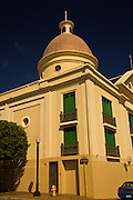 A colorful building in Mayaguez Puerto Rico