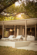 Guest room at the Chinzombo Safari Lodge, Luangwa River Valley, Zambia, Africa