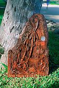 Carved Storyboard, Palau, Micronesia<br />