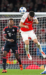 20.10.2015, Emirates Stadium, London, ENG, UEFA CL, FC Arsenal vs FC Bayern Muenchen, Gruppe F, im Bild l-r: David Alaba #27 (FC Bayern Muenchen) und Oliver Giroud #12 (FC Arsenal London) // during UEFA Champions League group F match between Arsenal FC and FC Bayern Munich at the Emirates Stadium in London, Great Britain on 2015/10/20. EXPA Pictures © 2015, PhotoCredit: EXPA/ Eibner-Pressefoto/ Kolbert<br /> <br /> *****ATTENTION - OUT of GER*****