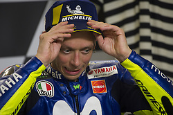 June 3, 2018 - Scarperia, Tuscany, Italy - Valentino Rossi during press conference after third place at  Italian Motogp at Mugello Circuit, Scarperia, Italy; (Credit Image: © Gaetano Piazzolla/Pacific Press via ZUMA Wire)