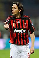 Fotball<br /> Italia<br /> Foto: Inside/Digitalsport<br /> NORWAY ONLY<br /> <br /> Filippo Inzaghi (Milan)<br /> <br /> 05.04.2008<br /> Milan v Cagliari (3-1)