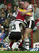 © Intersport Images .Photo Peter Spurrier.12/05/2002.Sport - Rugby League.London Broncos vs Widnes Vikings.Russell Bawden....