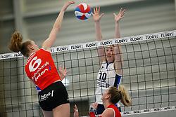 20180303 NED: Eredivisie Sliedrecht Sport - VC Sneek, Sliedrecht <br />Lieze Braaksma of VC Sneek, Carlijn Ghijssen- Jans (10) of Sliedrecht Sport<br />©2018-FotoHoogendoorn.nl / Pim Waslander