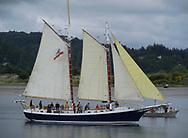 Freda B. schooner in the bay