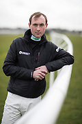 Mcc0081824 . Daily Telegraph<br /> <br /> DT Sport<br /> <br /> Nico de Boinville, jump jockey, photographed ahead of the Cheltenham Festival. <br /> <br /> London 5 March