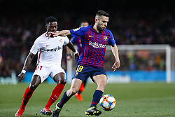 January 30, 2019 - Barcelona, Spain - FC Barcelona defender Jordi Alba (18) during the match FC Barcelona v Sevilla CF, for the round of 8, second leg of the Copa del Rey played at Camp Nou  on 30th January 2019 in Barcelona, Spain. (Credit Image: © Mikel Trigueros/NurPhoto via ZUMA Press)