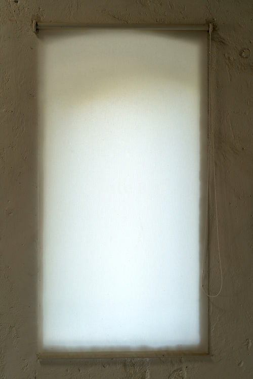 closed window screen with sunlight