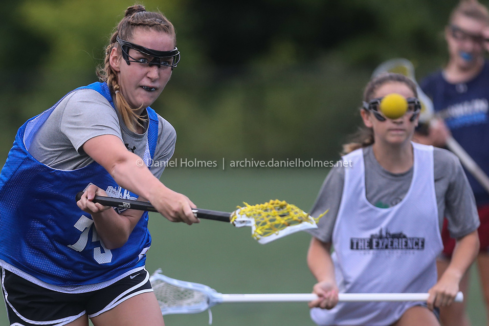 (7/13/20, MEDWAY, MA) Franklin's Katie Peterson shoots  during the Gold Star Lax League game against Walpole at Medway High School on Monday. [Daily News and Wicked Local Photo/Dan Holmes]