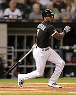 CHICAGO - SEPTEMBER 11:  Tim Anderson #7 of the Chicago White Sox bats against the Kansas City Royals on September 11, 2019 at Guaranteed Rate Field in Chicago, Illinois.  (Photo by Ron Vesely)  Subject:   Tim Anderson