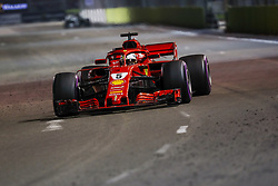 September 16, 2018 - Singapore, Singapore - Motorsports: FIA Formula One World Championship 2018, Grand Prix of Singapore, .#5 Sebastian Vettel (GER, Scuderia Ferrari) (Credit Image: © Hoch Zwei via ZUMA Wire)