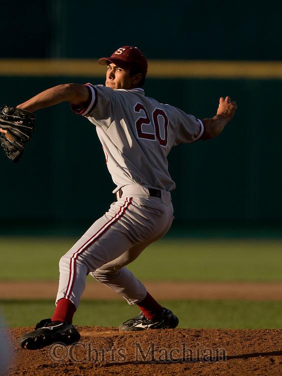 6/16/08 Omaha, NEB.Stanford pitcher Jeffrey Inman during game 6  at Rosenblatt Stadium during the College World Series..Chris Machian 402 578 6456