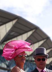 Racegoers arrive ahead of day five of Royal Ascot at Ascot Racecourse.
