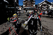 Italy, Madonna di Campiglio, going for sky.