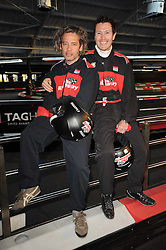 Left to right, DEXTER FLETCHER and NICK MORAN at an evening of go-karting hosted by Tag Heuer at Docklands Raceway, 3 Herringham Road, London SE7 on 16th June 2010.