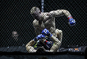 Kampfsport: MMA, We love MMA, Oberhausen, 31.01.2015<br /> Christian Skorzik (JKD Akademie NRW, oben) - Daniel Duecker (Fight Center Siegen)<br /> © Torsten Helmke