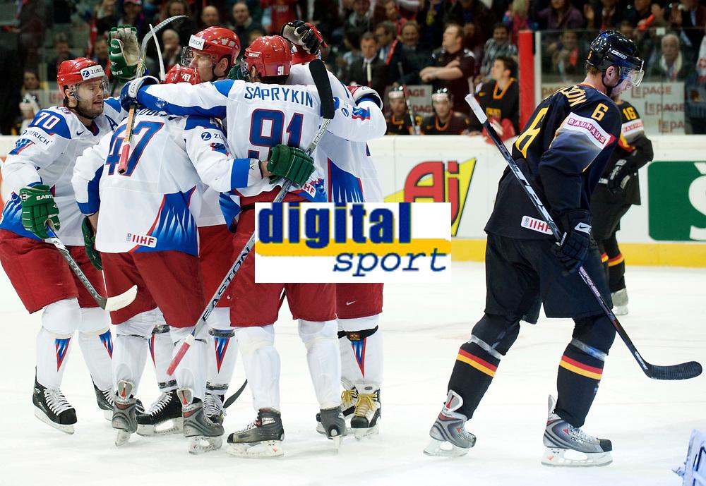 Die Russen jubeln nach dem 2:0. © Manu Friederich/EQ Images