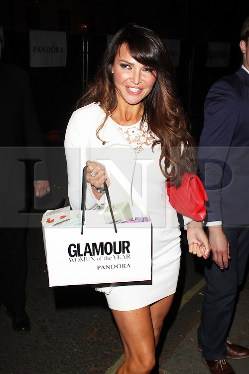 LONDON - June 04: Lizzie Cundy leaving the Glamour Awards 2013 (Photo by Brett D. Cove) /LNP © Licensed to London News Pictures.