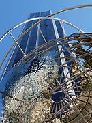World globe at Time Warner Center, Columbus Circle, Manhattan, New York City, NY, USA