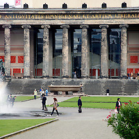 Europe, Germany, Berlin. Altes Museum in Berlin, a UNESCO World Heritage Site.