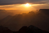 sunset, sunburst, gold, Desert View, Grand Canyon, National Park, AZ