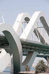 Sheikh Zayed Bridge in Abu Dhabi , United Arab Emirates, Architect Zaha Hadid