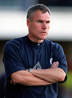 Leicester City manager Peter Taylor. Leicester City v Aston Villa, 19/8/2000, F.A. Carling Premiership. Credit : Colorsport / Matthew Impey.