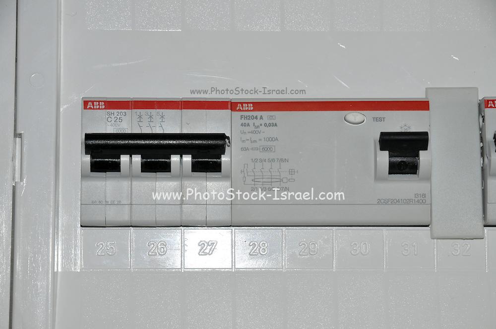 Domestic fuse box close up