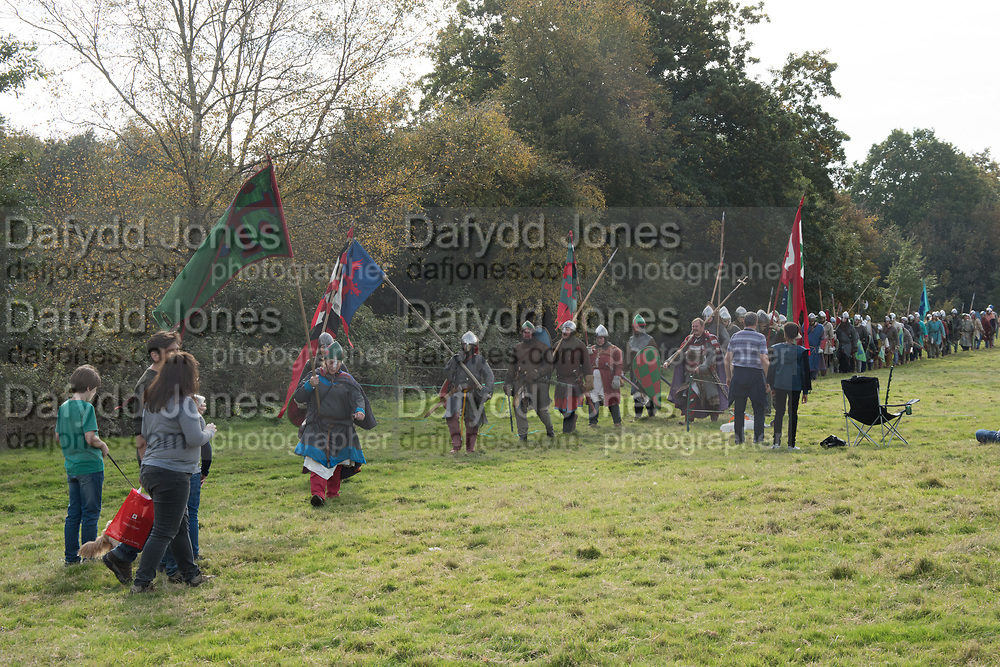 Battle of Hastings re-enactment. Battle, East Sussex, 13 October 2018