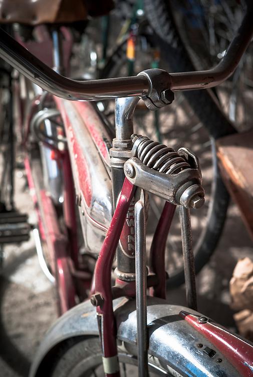 Bike re-hab shop, Telluride, Colorado.