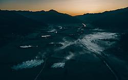 THEMENBILD - Sonnenaufgang im Pinzgau mit Bodennebel über der Landschaft, aufgenommen am 21. September 2019 in Kaprun, Oesterreich // Sunrise in Pinzgau with ground fog over the landscape in Kaprun, Austria on 2019/09/21. EXPA Pictures © 2019, PhotoCredit: EXPA/ JFK