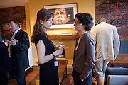 DEBORAH KANT; DR. JESSICA REINISCH; , Party to announce the Samuel Johnson prize. Century club. 61-63 shaftesbury ave. 14 June 2011. <br /> <br />  , -DO NOT ARCHIVE-© Copyright Photograph by Dafydd Jones. 248 Clapham Rd. London SW9 0PZ. Tel 0207 820 0771. www.dafjones.com.